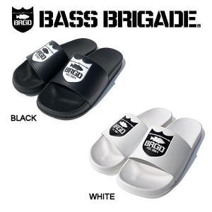 バスブリゲード BASS BRIGADE SHIELD LOGO SANDAL メンズ サンダル  スリッパ 内履き アウトドア フィッシング 釣り 2カラー 26・27・28|54tide