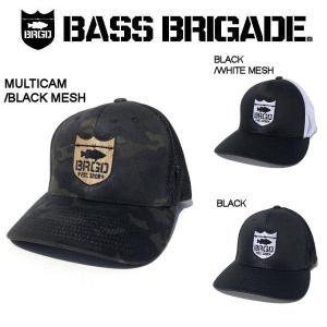 バスブリゲード BASS BRIGADE メンズ キャップ フレックスフィット 3カラー SHIELD LOGO FLEXFIT TRUCKER HAT|54tide