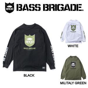 バスブリゲード BASS BRIGADE  MILITARY GREEN SHIELD LS TEE メンズ Tシャツ 長袖 トップス  S・M・L・XL・XXL|54tide