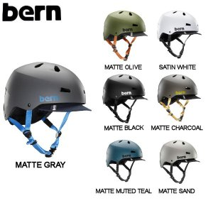 バーン BERN MACON VISOR メイコン バイザー メンズ ヘルメット プロテクター 耳あてなし スケート スノー 自転車|54tide