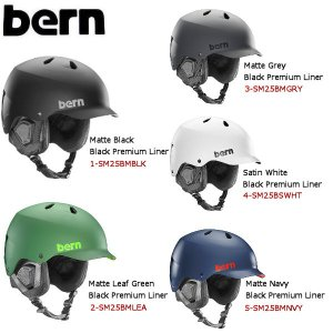 BERN バーンWatts メンズ ヘルメット 自転車 スケートボード スノーボード プロテクター つば付き 耳あて付きヘルメット|54tide