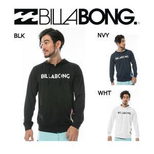 ビラボン BILLABONG メンズ長袖ジップアップラッシュガード ラッシュパーカー パーカ 海水浴 プール UVカットUPF50+ S-XL 3カラー|54tide