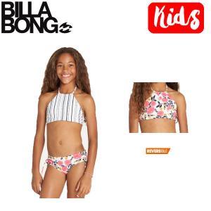 ビラボン BILLABONG キッズ ビキニ 水着 リバーシブル スイムウェア ウエア 子供用 ガールズ 女の子 120cm-150cm MUL Girls Sun Dream High Neck Bikini Set|54tide