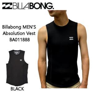 ビラボン BILLABONG メンズ Absolution Vest ベスト /2mm ウェットスーツ ノースリーブ BA011888 イクウォータータッパー  ネオプレーン 【正規品】|54tide