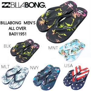 ビラボン BILLABONG 2020春夏 メンズ ALL OVER ビーチサンダル ビーサン アウトドア キャンプ 海水浴 BBQ サーフィン 26/27/28 5カラー【正規品】|54tide