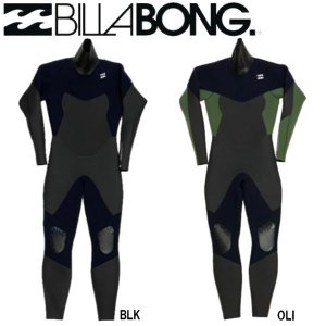 ビラボン BILLABONG メンズ ウェットスーツ セミドライ フルスーツ ロングチェストジップ FULLSUIT WETSUIT セミドライ 裏起毛 M/ML/L/XL|54tide