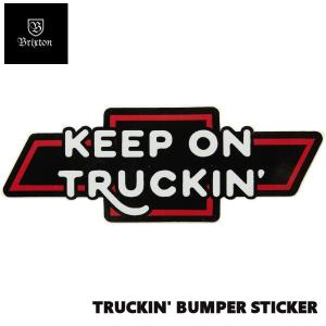 ブリクストン  Brixton × Chevrolet Collaboration TRUCKIN BUMPER STICKER  Bel Air Black ロゴステッカー シール スケートボード|54tide
