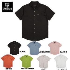 ブリクストン BRIXTON メンズ 半袖シャツ ボタンダウンシャツ ワイシャツ トップス CHARTER OXFORD S/S WOVEN 54tide