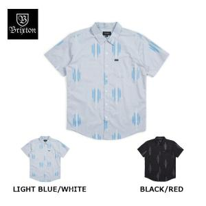 ブリクストン BRIXTON メンズ 半袖シャツ ボタンダウンシャツ ワイシャツ トップス CHARTER PRINT S/S WOVEN 54tide