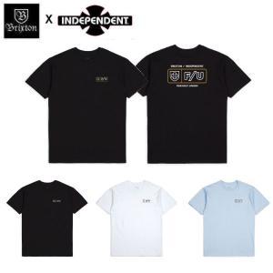 ブリクストン BRIXTON x INDEPENDENT インディペンデント メンズ 半袖Tシャツ ティーシャツ トップス TURNPIKE S/S STANDARD TEE 54tide