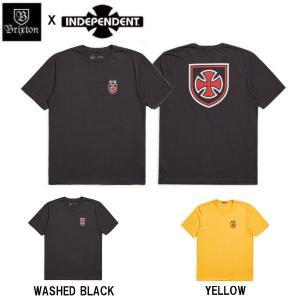 ブリクストン BRIXTON x INDEPENDENT インディペンデント メンズ 半袖Tシャツ ティーシャツ トップス HEDGE S/S PREMIUM TEE 54tide