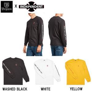 ブリクストン BRIXTON x INDEPENDENT インディペンデント メンズ 長袖Tシャツ ロンT ロングスリーブ ティーシャツ トップス HEDGE S/S PREMIUM TEE 54tide