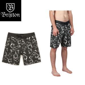 ブリクストン BRIXTON メンズサーフパンツ ボードショーツ 海水パンツ 水着 28・30・32インチ WASHED BLACK/STONE BARGE TRUNK 54tide