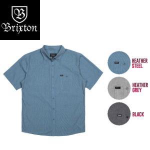 BRIXTON ブリクストン 2017秋冬 CENTRAL S/S WOVEN メンズ半袖シャツ ボタンシャツ ワイシャツ トップス 54tide