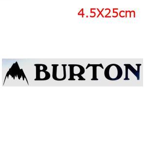 【BURTON】バートン Jpn Logo Stckr Black ブランドロゴステッカー/約4.5×約25cm/ブラック|54tide