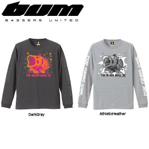 BASSERS UNITED バサーズユナイテッド 8bit Bass メンズTシャツ/アウトドアフィッシング 魚釣り バス長袖ティーシャツ|54tide