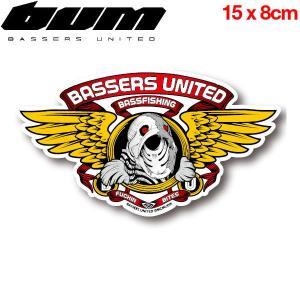 バサーズユナイテッド BASSERS UNITED BITES 2nd Clear Sticker BUM 54tide