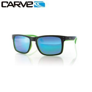 カーブ CARVE Goblin Polaraized メンズサングラス Matteblk Green Revo|54tide