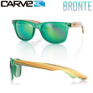カーブ CARVE Bronte メンズサングラス Green w bamboo 54tide