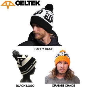 CELTEK セルテック Logo Pom Beanie メンズ ニット帽 ビーニー スノーボード 帽子|54tide