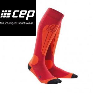 CEP シーイーピー progressive+ Ski Thermo Socks Cranberry Orange レディーススノースポーツ用サーモソックス 靴下 厚手タイプ スキー|54tide