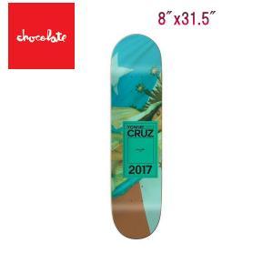 Chocolate チョコレート CRUZ INAUGURAL 8x31.5インチ デッキ スケートボード スケボー 板|54tide