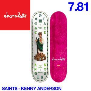 Chocolate チョコレート Saints デッキ 7.81インチ スケートボード スケボー 板 K.A|54tide