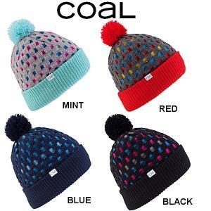 コール Coal THE JACKIE BEANIE レディース ポンポン付 リブ ビーニー 折り返しOK ニット帽|54tide