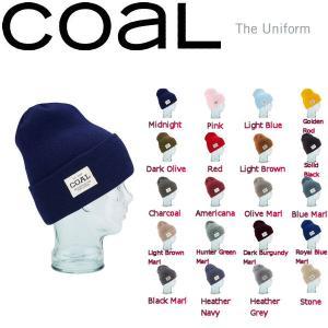 定番アイテム コール COAL Uniform Beanie メンズ・レディースビーニー サイドパッチ 帽子 ニット帽|54tide