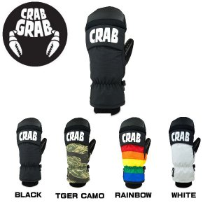 クラブグラブ CRABGRAB PUNCH MITT MENS メンズ ミットグローブ スノーボード ミトン 手袋 XS-XL 4カラー BLACK CAMO RAINBOW WHITE|54tide