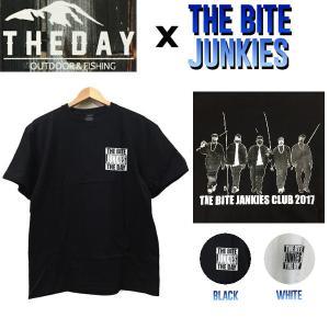 ザ デイ THE DAY THE BITE JUNKIES メンズTシャツ アウトドアフィッシング 魚釣り バス ティーシャツ|54tide