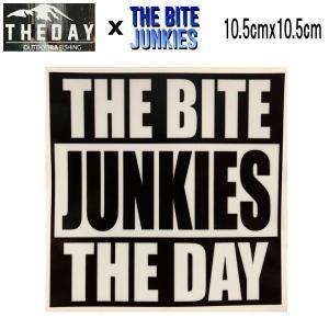ザ デイ THE DAY コラボ ステッカー シール アウトドア フィッシング 魚釣り バス 約10.5cmx10.5cm THE BITE JUNKIES|54tide
