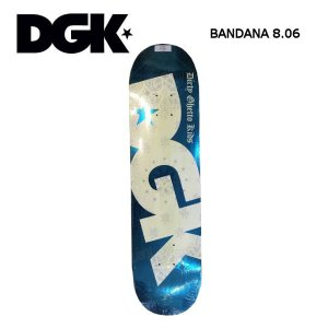 ディージーケー DGK 8.06インチ スケボー デッキ スケートボード 板 BANDANA TURQOISE|54tide