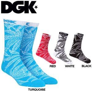 DGK ディージーケー Cannabis Crew Sock メンズソックス 靴下|54tide