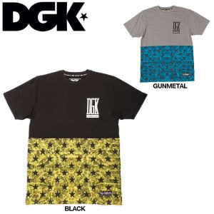 DGK ディージーケー Unfollow Tee メンズTシャツ カラー:Black Gun Metal Heather サイズM-L 半袖ティーシャツ トップス|54tide