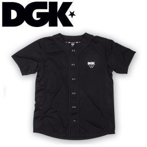DGK ディージーケー TECHNIQUE CUSTOM BASEBALL JERSEY メンズ半袖シャツ メッシュ ベースボールシャツ ティーシャツ S-L BLACK|54tide