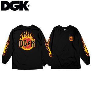 ディージーケー DGK メンズ 長袖Tシャツ TEE ロンT ロングスリーブ トップス Flame Long Sleeve T-Shirt|54tide