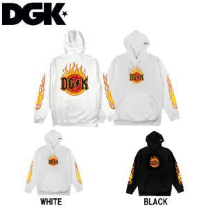 ディージーケー DGK メンズ プルオーバーパーカー 長袖トップス Flame Hoody|54tide