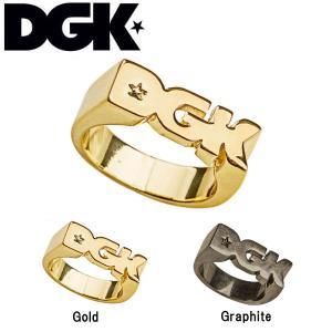 ディージーケー DGK 指輪 ロゴ リング スケートボード スケボー ストリート 5-9号 2カラー Ring Logo 54tide