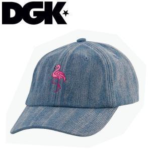 ディージーケー DGK メンズ キャップ ストラップバック 帽子 DENIM Lost In Paradise Strapback Hat|54tide