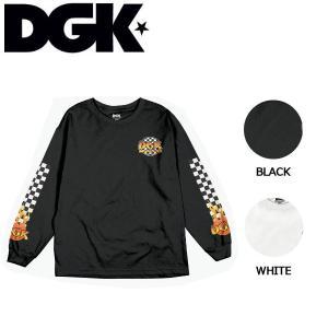ディージーケー DGK メンズ 長袖 Tシャツ TEE ロンT ロングスリーブ トップス M・L 2カラー Ghetto Fire Long Sleeve T-Shirt|54tide