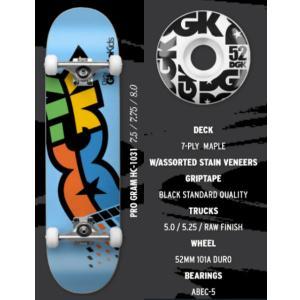 【DGK】ディージーケー DGK PRO GRAM COMPLETE DECK Skateboard コンプリート スケボー デッキ スケートボード 板 7.5inchi 7.75inchi 8inchi|54tide