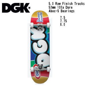 【DGK】ディージーケー DGK PUFF COMPLETE DECK Skateboard コンプリート  スケボー 大人 デッキ KIDS キッズ スケートボード 板 初心者|54tide