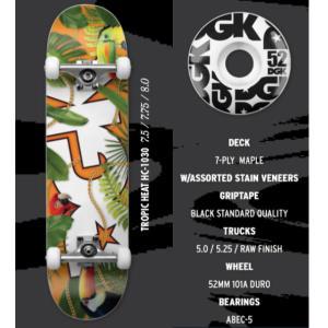 【DGK】ディージーケー DGK TROPIC COMPLETE DECK Skateboard コンプリート スケボー デッキ スケートボード 板 7.5インチ 7.75インチ 8インチ|54tide