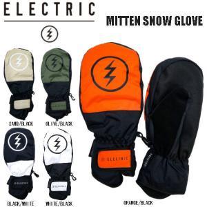 エレクトリック  ELECTRIC  2020秋冬 MITTEN SNOW GLOVE ミトン スノー グローブ スノーボード スキー 手袋 メンズ SNOWBOARD カラー SNOW E21A07【正規品】|54tide