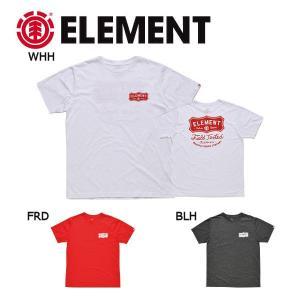 エレメント ELEMENT メンズ半袖Tシャツ ティーシャツ バックプリント M・L 3カラー SKATE TEE HIDE SS|54tide