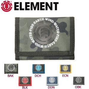 エレメント ELEMENT メンズウォレット 財布 三つ折り 6カラー ELEMENTAL