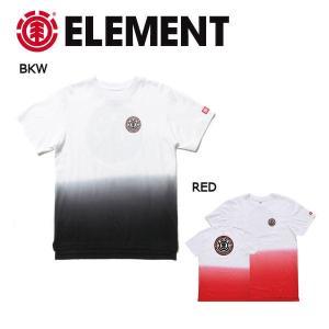 エレメント ELEMENT キッズ 半袖Tシャツ ティーシャツ グラデーション バックプリント ボーイズ ガールズ 130-160cm BKW RED SEAL SS BOY|54tide