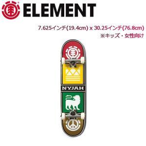 エレメント ELEMENT コンプリートデッキ キッズ 女性向け 7.625x30.25 板 スケートボード スケボー NYJAH QUAD TWIG 7.6|54tide