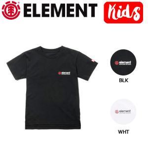 エレメント ELEMENT キッズ 半袖 Tシャツ ティーシャツ バックプリント ボーイズ ガールズ 130-160cm BLK・WHT BIG LOGO SS BOY|54tide